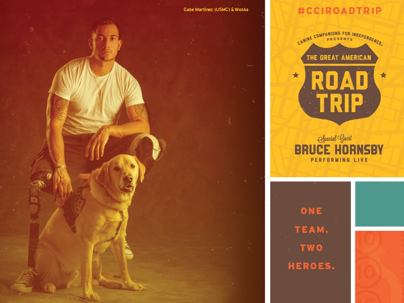 Great American Road Trip Event Theme travel poster road trip canine