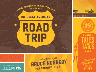Great American Road Event Graphics road trip canine