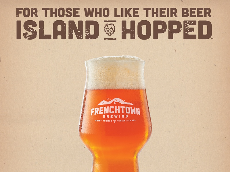 Frenchtown Brewing Ad Headline virgin islands brewery beer frenchtown advertising ad