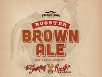 Rooster Brown Ale by Frenchtown Brewing Ad