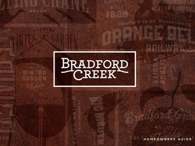 Bradford Creek Logo real estate community design logotype logo