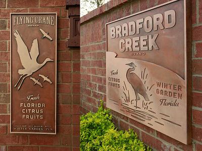 Bradford Creek Wall Art art florida design labels citrus