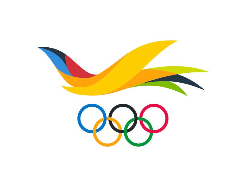US Virgin Islands Olympic Logo flight icon bird olympics logo