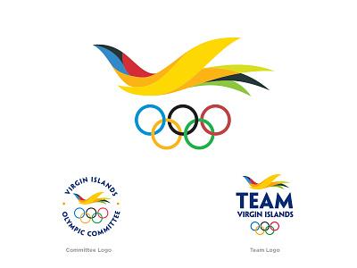 US Virgin Islands Olympic Logos flight icon bird olympics logo