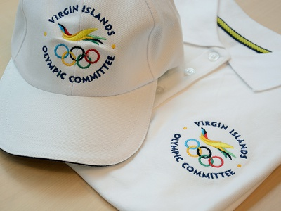 US VI Olympic Committee Apparel embroidery polo hat flight icon bird olympics logo