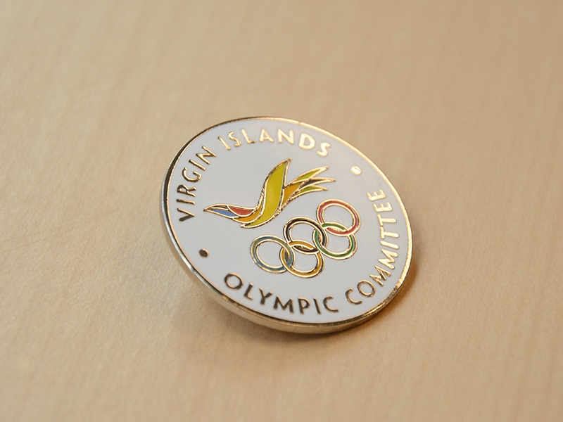 VI Olympic Committee Commemorative Pin metal cloisonne lapel pin pin flight icon bird olympics logo