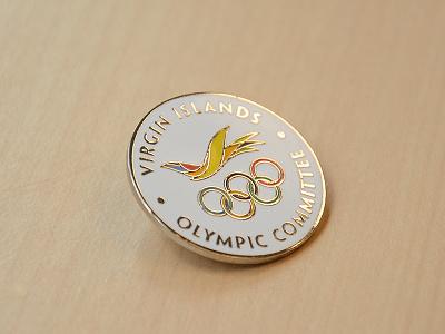 VI Olympic Committee Commemorative Pin metal cloisonne lapel pin pin flight icon bird olympics logo