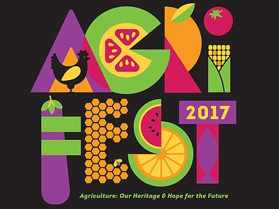 AgriFest 2017 design tshirt agriculture vegetables fish livestock fruit