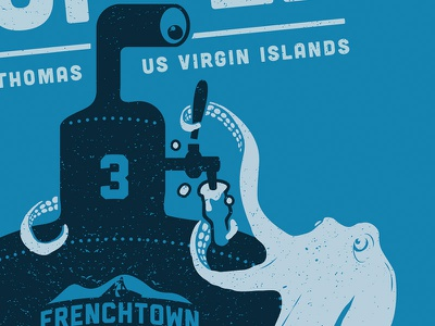 Thirsty Octopus (Detail) beer submarine octopus design usvi st. thomas frenchtown craft beer illustration
