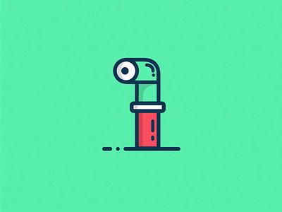 Periscope icon illustration minimalist elegant cute logo icon periscope