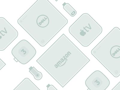 Media Boxes illustration icons lines gray media box usb