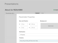 Presentation Settings Modal