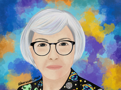 June Dalisay, renowned Filipino artist watercolor texture watercolor portrait texture series medibang illustration digitalart
