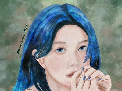 Dreamcatcher Dami digitalwatercolor digitalpainting commision watercolor texture portrait watercolor texture medibang illustration digitalart