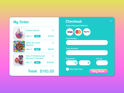 Credit Card Checkout dailyui 002 dailyui website design web branding logo ux ui