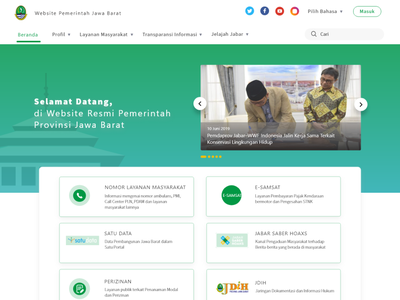UI UX Design Competition - West Java Government Site design egov gov government website ux ui