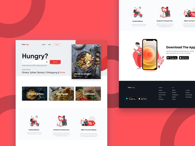 Food delivery site figmadesign figma delivery site