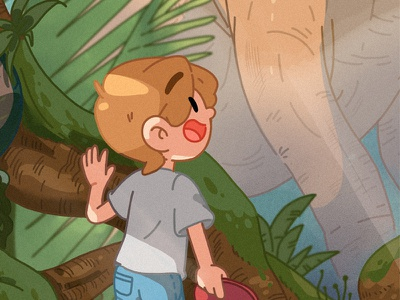 旅行的沙发弹探秘中生代 沙发 旅行 热带雨林 design illustration