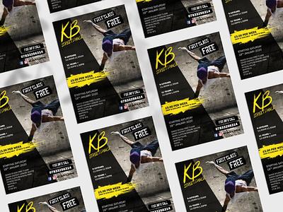KB Street Dance branding logo design