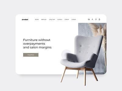 Furniture website website design ux ui