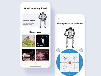 App for Atlas model app ux ui design