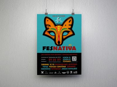 Fesnativa poster design illustration design