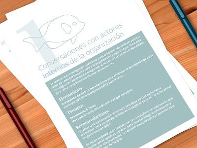 Informational sheet illustration visual identity design