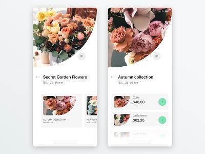 Flowers - Concept onlinestore flowershop ui design app