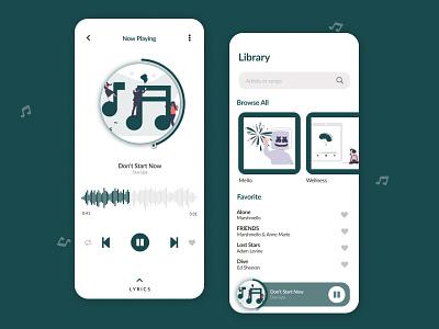 Music App uxinspiration uiinspirations uitrends mobile ui uiux mobile mobile app interface minimal app design design app music player music ux design uxdesign ui design uidesign figma music app