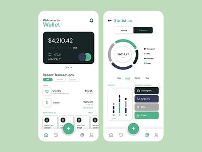 Wallet App wallet minimal design app ui figma uxinspiration uiux uiinspiration uidesign design mobile app app design app finance app wallet app