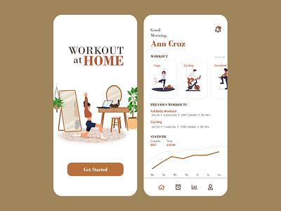 Fitness App design app minimal ux ui uxinspiration uiinspiration mobile app design uiuxdesign uidesign uiuix figma fitness app fitness mobile app design app