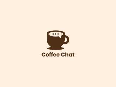 Coffee Chat Logo Design design illustrator illustraion photoshop graphic design ecommerce app logo branding modern logo restaurants coffee shop brand identity message app logotype chat icon chatting coffee chat coffee logo design logo