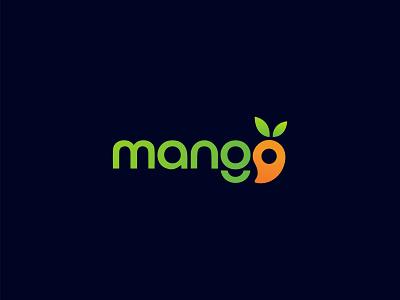 Mango Logo Design creative logo minimalist logo leaf design logo mark juice logo icon symbol logotype green vector colors abstract logo fruit mango modern logo brand identity branding logo design logo