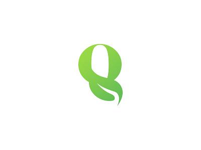 Organic Logo abstract vector leaf logo minimalistic monogram logo symbol lettermark modern logo o logo q logo green natural logo eco fresh plant organic brand identity branding logo design logo