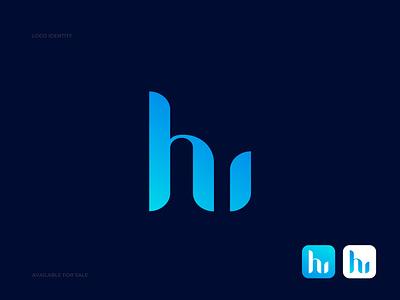 h + u modern letter logo mark + h letter logo + u letter logo abstract gradient logo i letter logo logo design logo brand identity design branding u letter logo h letter logo modern logo letter logo hu modern logo monogram logo logo trends 2021 hu logo app icon logo gradient color uiux typography