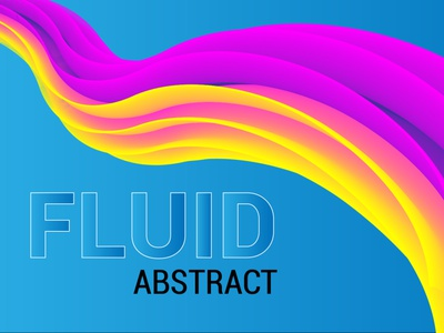 Fluid Abstract fluid blend typography graphic design animation vector illustration design