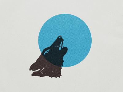 Howl circle venue bar howl moon wolf branding logo design illustration