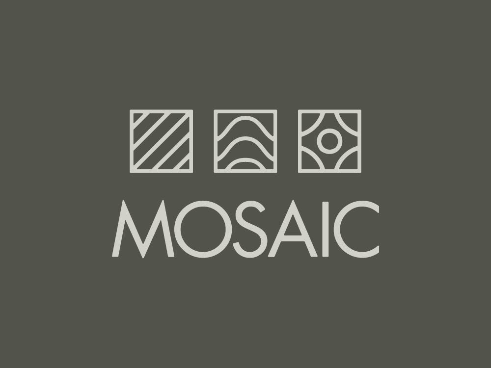Mosaic Identity vector illustration typography branding logo