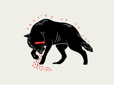 In Wolf's Clothing symbol blood art imposter wolf illustration