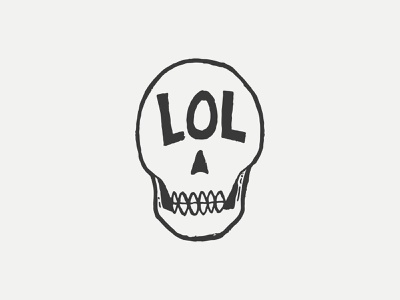 Laughing At Death sketch lol stoic stoicism icon black and white skull illustration