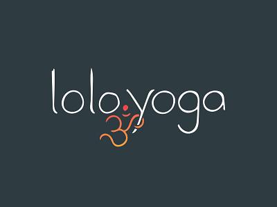 Lolo.yoga Identity Package handlettering ohm organic yoga illustration icon branding logo typography