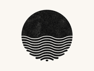 Water Planet texture shape vector waves water planet circle logo illustration