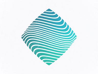 Square Wave waveform water diamond wave artwork art icon design vector logo illustration