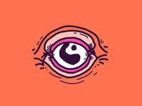 Eye cyclops alien eye design vector illustration