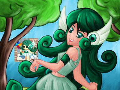 Elf wind painting digital