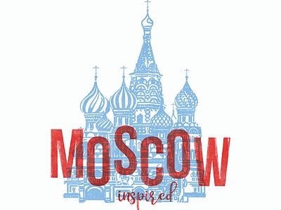 Moscow poster art typography illustration ui poster design poster logo design