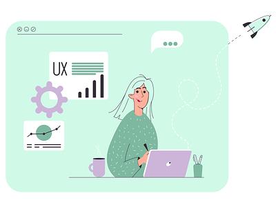 UX boost designer ux ui design ux designer ux  ui ux design uxdesign vector ui ux website design web design webdesign web illustration design
