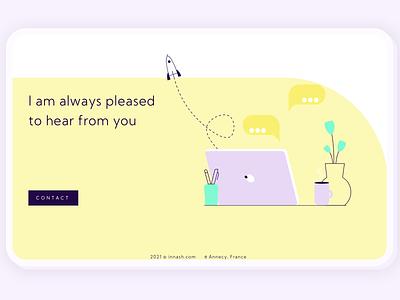 Contact page vector website design ui web design webdesign illustration web design graphic design