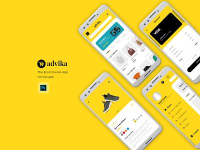 Ecommerce Mobile App UI/UX graphic design flat web app ux branding ui logo design