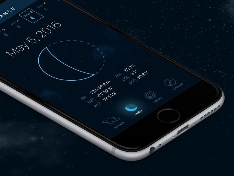 Astronomy app night sky astronomy moon space icons ux ui
